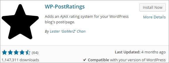 WP Post Ratings