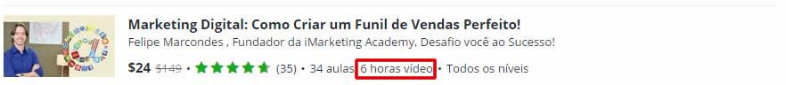 horas de vídeo