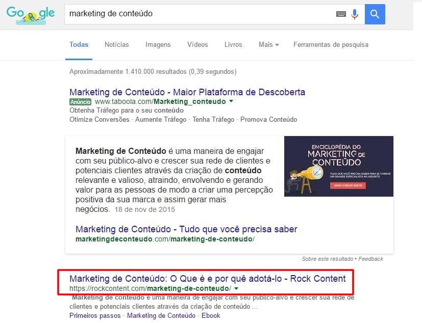 marketing de conteúdo google