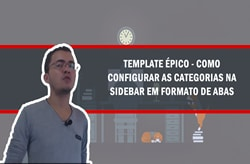 como configurar as categorias do template épico