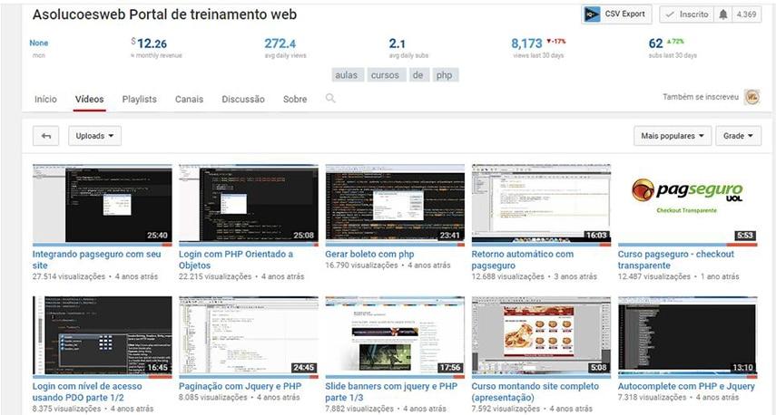 pesquisa de palavras chave youtube