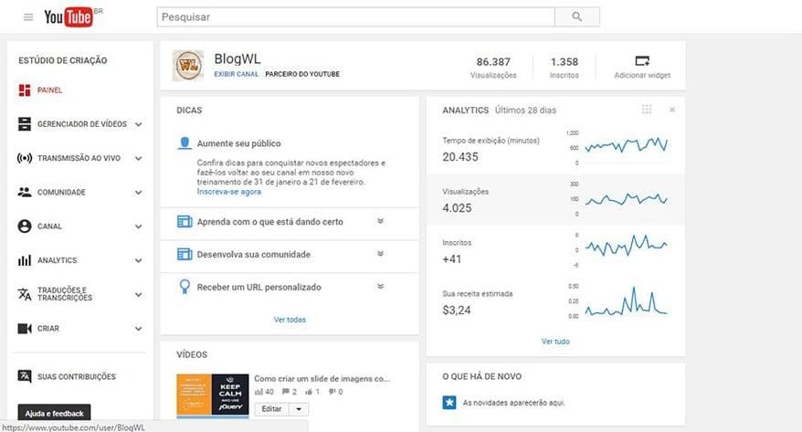 youtube analitycs