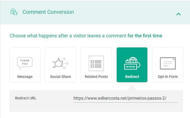 comment conversion