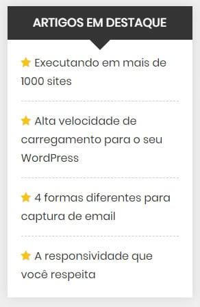 widget artigos em destaque