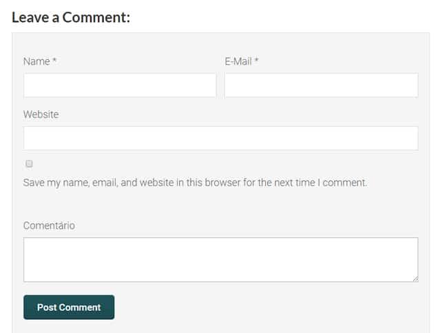comentários nativos wordpress