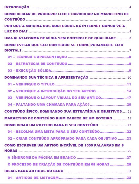 sumario e-book